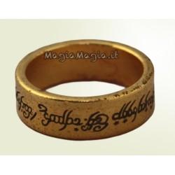 Pk ring Anello magnetico ( Con scritta tipo signore degli anelli) 20 mm diametro interno Color ORO invecchiato