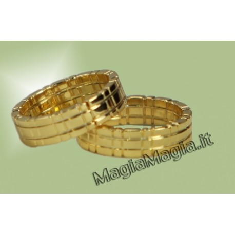 Anelli concatenati Himber ring ( Color oro )