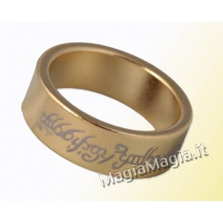 Anello magnetico 20mm pk piatto tipo signore degli anelli color oro