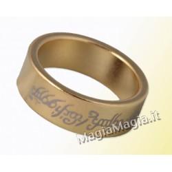 Anello magnetico 18mm pk piatto tipo signore degli anelli color oro