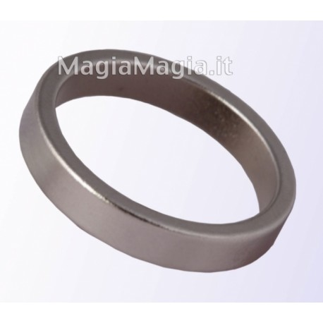 Anello magnetico sottile 20mm diametro interno pk ring silver