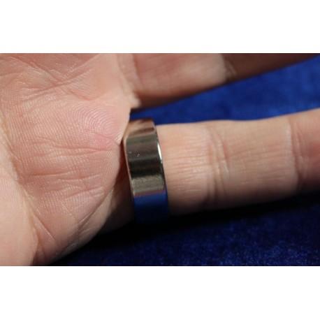 Anello magnetico pk ring silver 19 mm spessore 6 mm