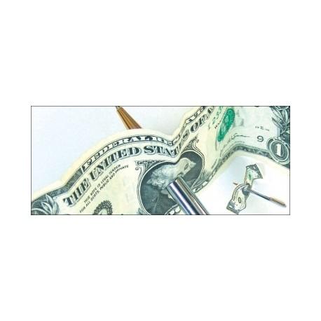 Penna attraverso la banconota ( Professionale esaminabile in metallo )