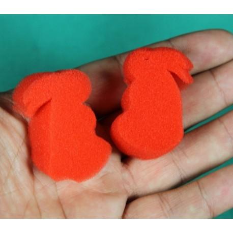 2 coniglietti di spugna rossi
