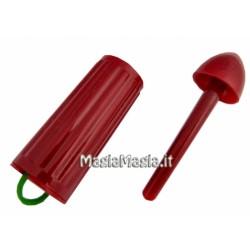 Aggancia l'elastico rosso