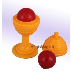 Vasetto e pallina ( giallo )
