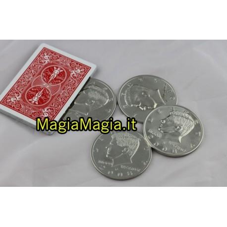 Conchiglie monete giganti mezzo dollaro con mazzo finto blu
