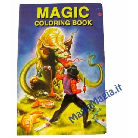Mini Libro che si colora ( Drago e mago) tascabile (14,5cm x 10 cm )