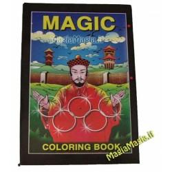 Libro che si colora medio ( mago cinese in copertina ) ( 14 cm x21,5 cm )