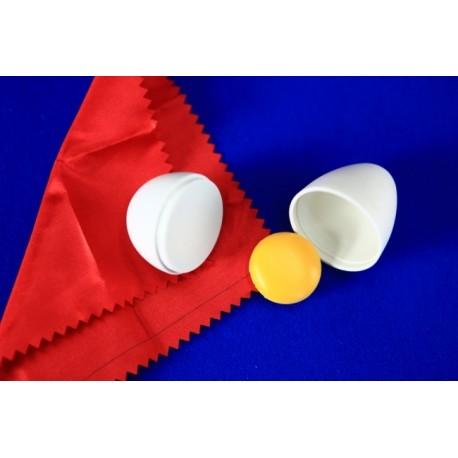 Foulard in uovo di plastica con il rosso