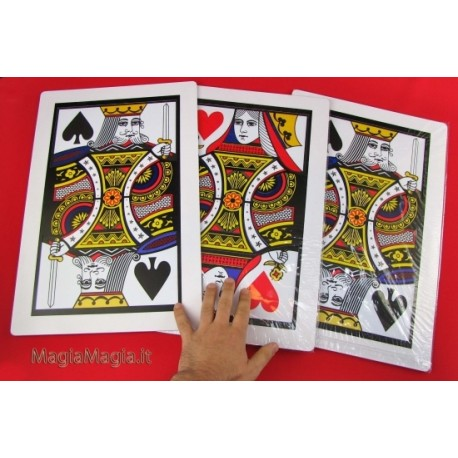 le tre carte giganti ( da regina a re ) 3 carte