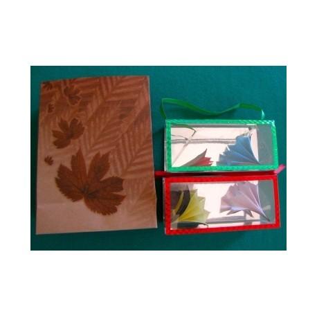 Fiori dalla busta (Busta piccola marrone con foglie)