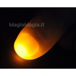 2 dita luminose a luce gialla (gold )