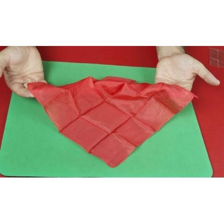 Fazzoletto di seta 27x27 (rosso)
