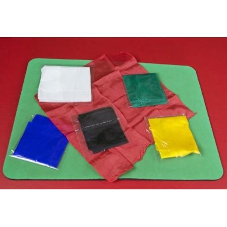 Fazzoletti di seta 27x27 lotto 6 colori