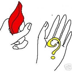 Foulard che sparisce fazzoletto rosso