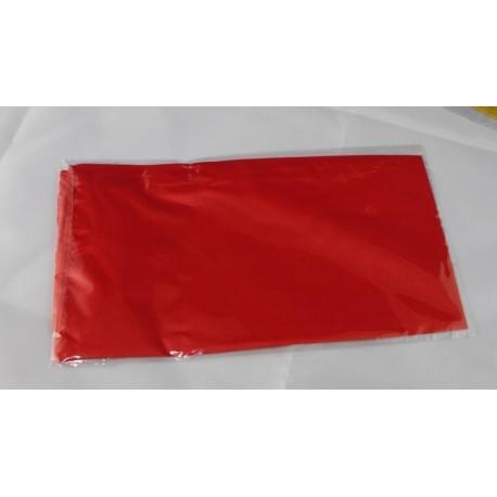 Fazzoletto di seta rosso 45x45