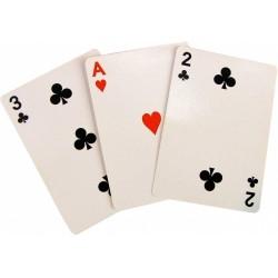 Il gioco delle tre carte ( con asso di cuori )
