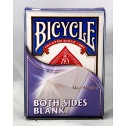 Mazzo carte bianche doppia faccia bicycle