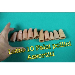 Lotto 10 falsi pollici assortiti