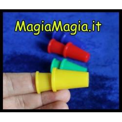 Ditali per manipolazione ( 4+4 interni ditali plastica colorati )