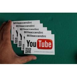 5 x Adesivi Youtube Milleaccendini